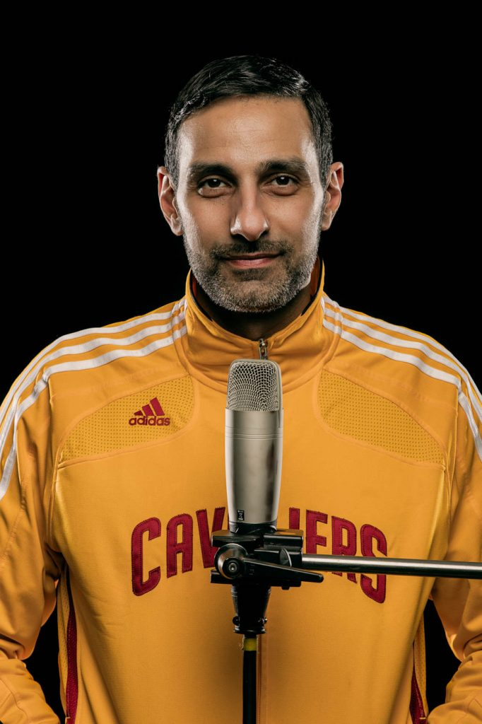 Above: Olivier Sedra – Cleveland Cavaliers Announcer